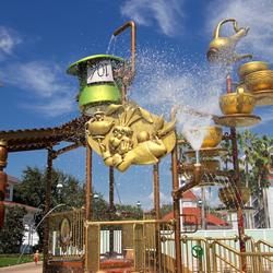 Alice in Wonderland kids splash playground
