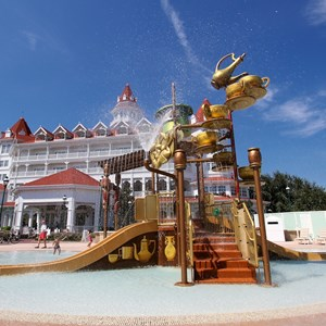 5 of 7: Disney's Grand Floridian Resort and Spa - Disney's Grand Floridian Resort - Alice in Wonderland kids splash playground