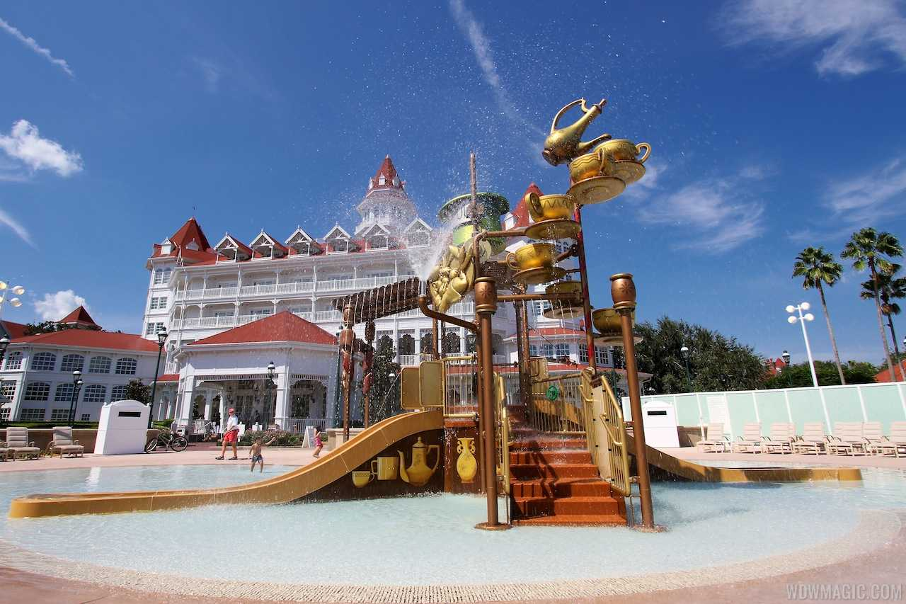 Disney's Grand Floridian Resort kids splash playground