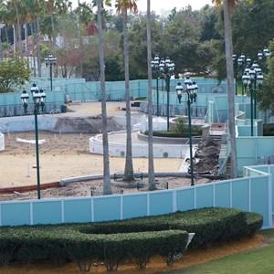 3 of 3: Disney's Grand Floridian Resort and Spa - Grand Floridian courtyard pool refurbishment