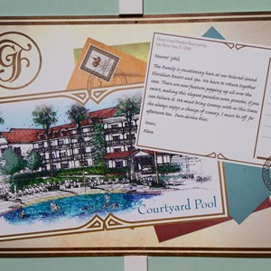 2 of 2: Disney's Grand Floridian Resort and Spa - Grand Floridian - Courtyard Pool concept art