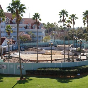 2 of 2: Disney's Grand Floridian Resort and Spa - Grand Floridian courtyard pool refurbishment