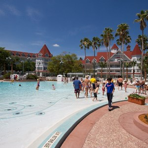 9 of 12: Disney's Grand Floridian Resort and Spa - Grand Floridian courtyard pool reopens from refurbishment