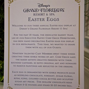 2 of 9: Disney's Grand Floridian Resort and Spa - 2014 Grand Floridian Resort Easter Eggs