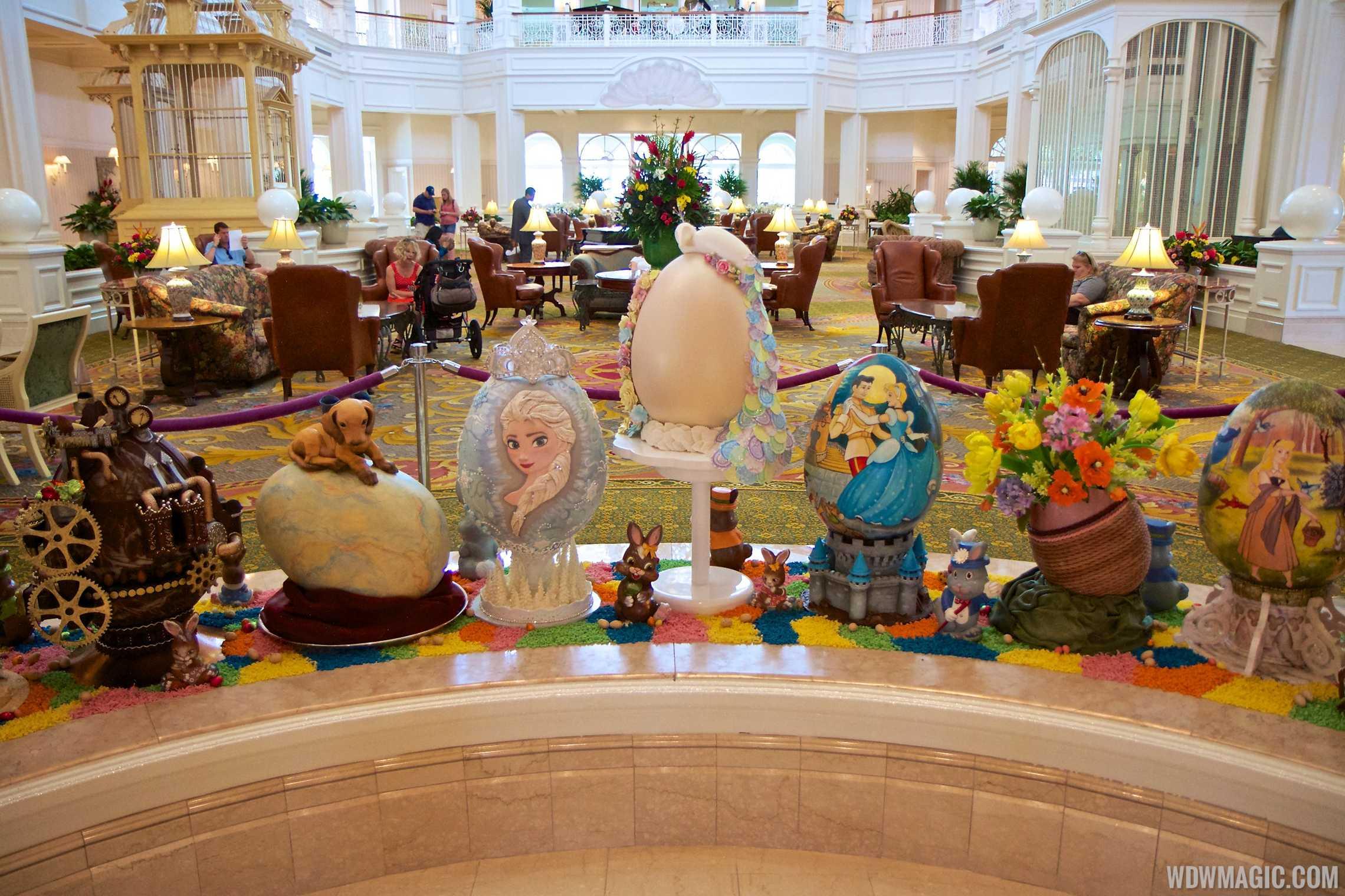Grand Floridian Resort Easter Egg display