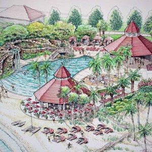 1 of 1: Disney's Grand Floridian Resort and Spa - Grand Floridian pool concept art