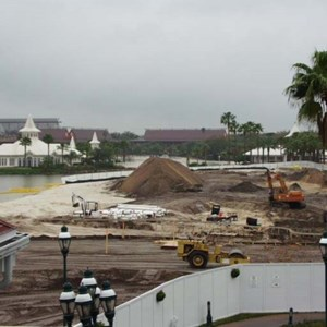 5 of 6: Disney's Grand Floridian Resort and Spa - Grand Floridian pool construction photos
