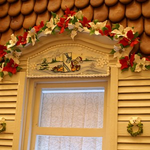8 of 15: Disney's Grand Floridian Resort and Spa - Some close up details on the Gingerbread House in The Grand Floridian lobby.