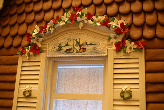 Disney's Grand Floridian Resort and Spa - Some close up details on the Gingerbread House in The Grand Floridian lobby.