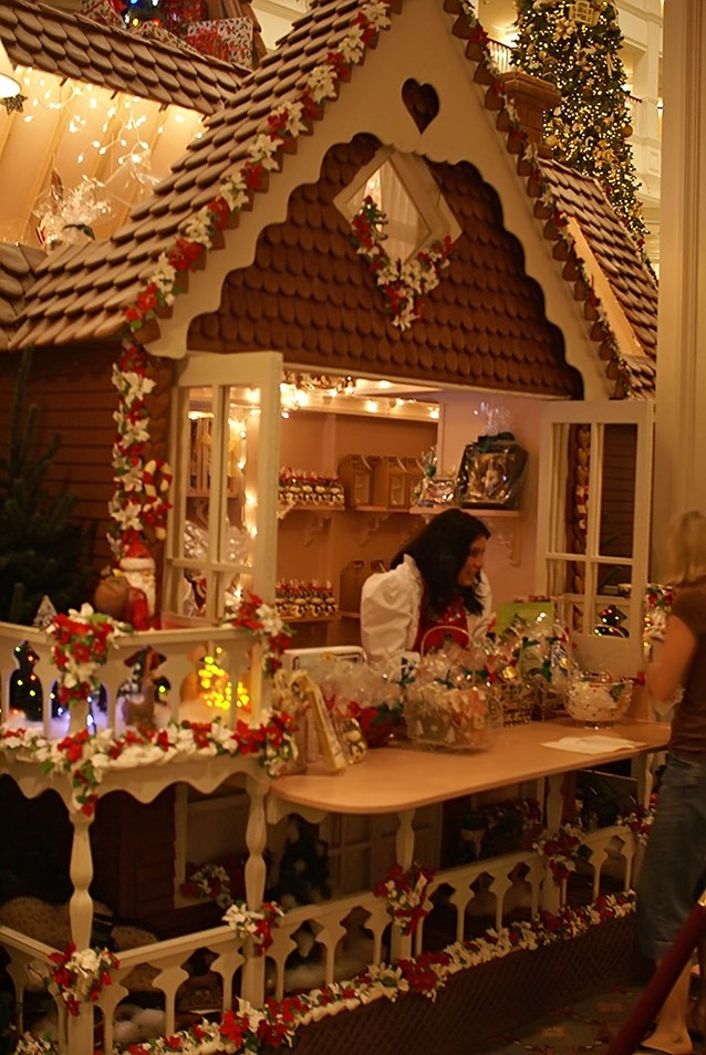 Disney's Grand Floridian Resort and Spa - The gingerbread house also has a fully functional shop where guests can buy treats.