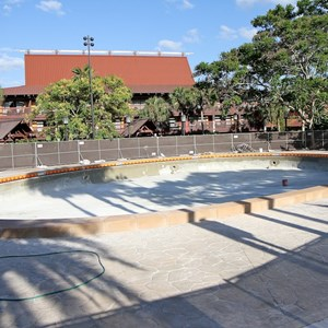 1 of 1: Disney's Polynesian Resort - Polynesian Resort quiet pool refurbishment