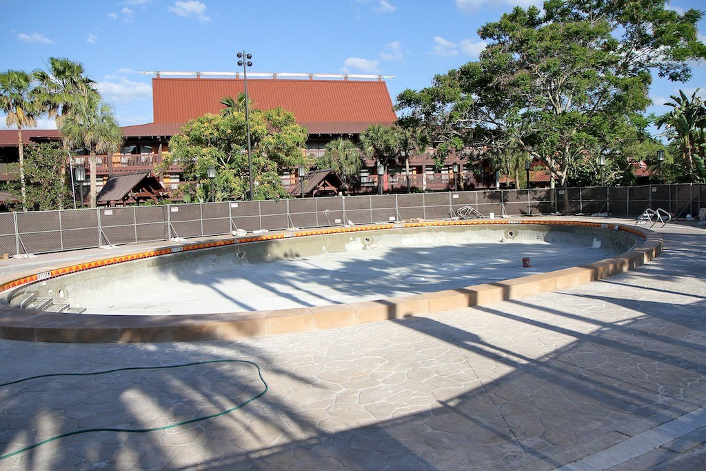 Polynesian Resort quiet pool refurbishment