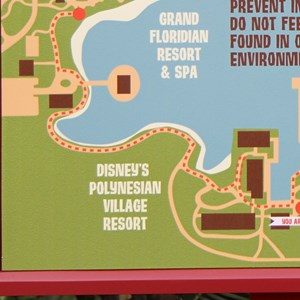 1 of 2: Disney's Polynesian Resort - New Disney's Polynesian Village Resort signage