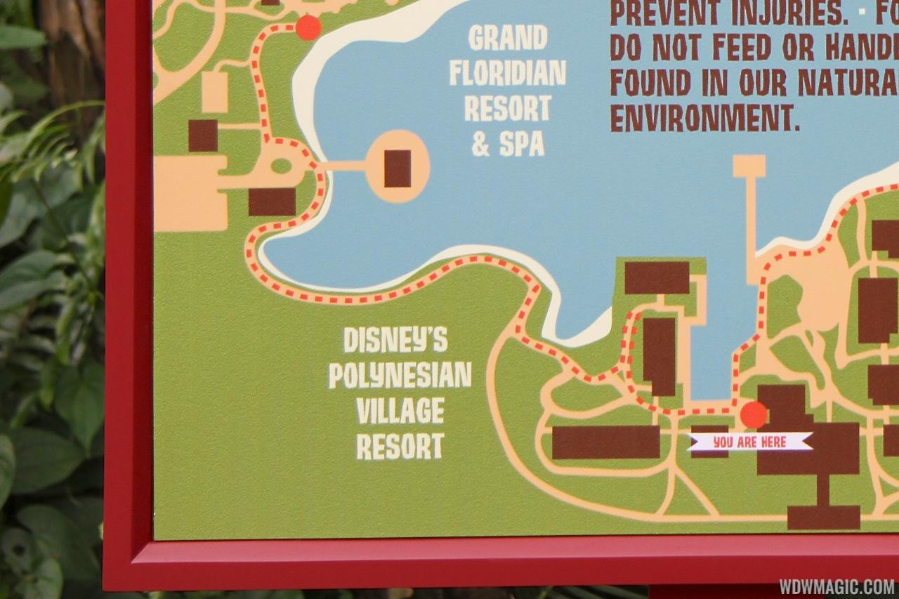 New Disney's Polynesian Village Resort signage