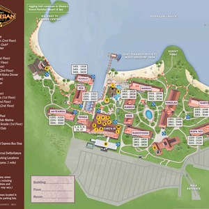 1 of 1: Disney's Polynesian Resort - 2013 Polynesian Resort guide map