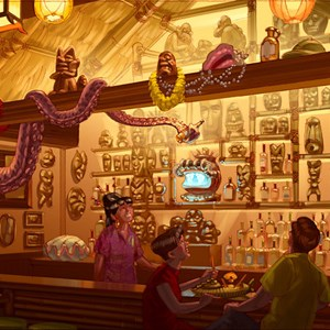 3 of 5: Disney's Polynesian Resort - Concept art for the new Trader Sam's Grog Grotto at Disney's Polynesian Resort