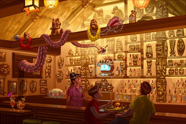 Disney's Polynesian Resort - Concept art for the new Trader Sam's Grog Grotto at Disney's Polynesian Resort