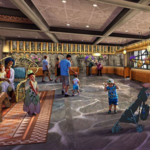 1 of 5: Disney's Polynesian Resort - Concept art for the new Grand Ceremonial House lobby at Disney's Polynesian Resort