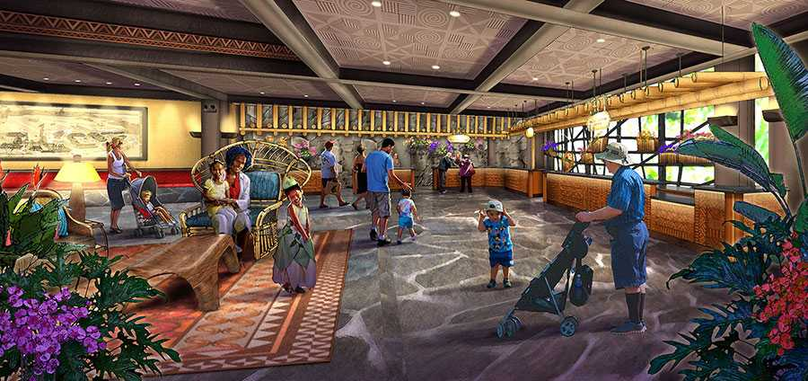 New Polynesian Resort Grand Ceremonial Hall lobby concept art