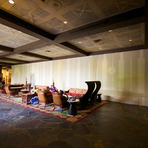 1 of 8: Disney's Polynesian Resort - Polynesian Resort lobby construction