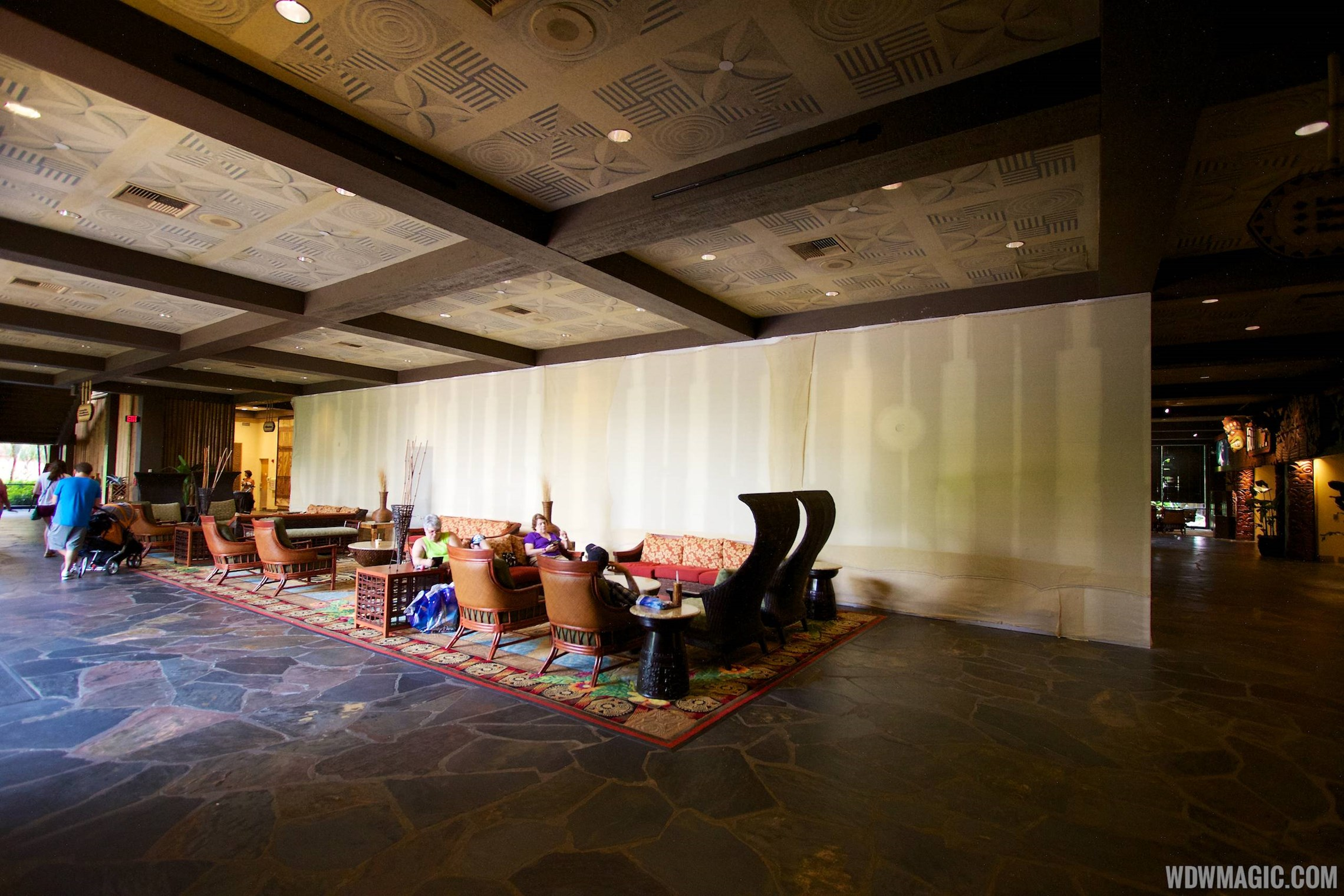 Polynesian Resort lobby construction