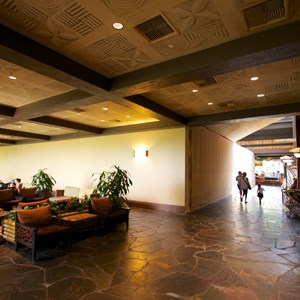 5 of 8: Disney's Polynesian Resort - Polynesian Resort lobby construction