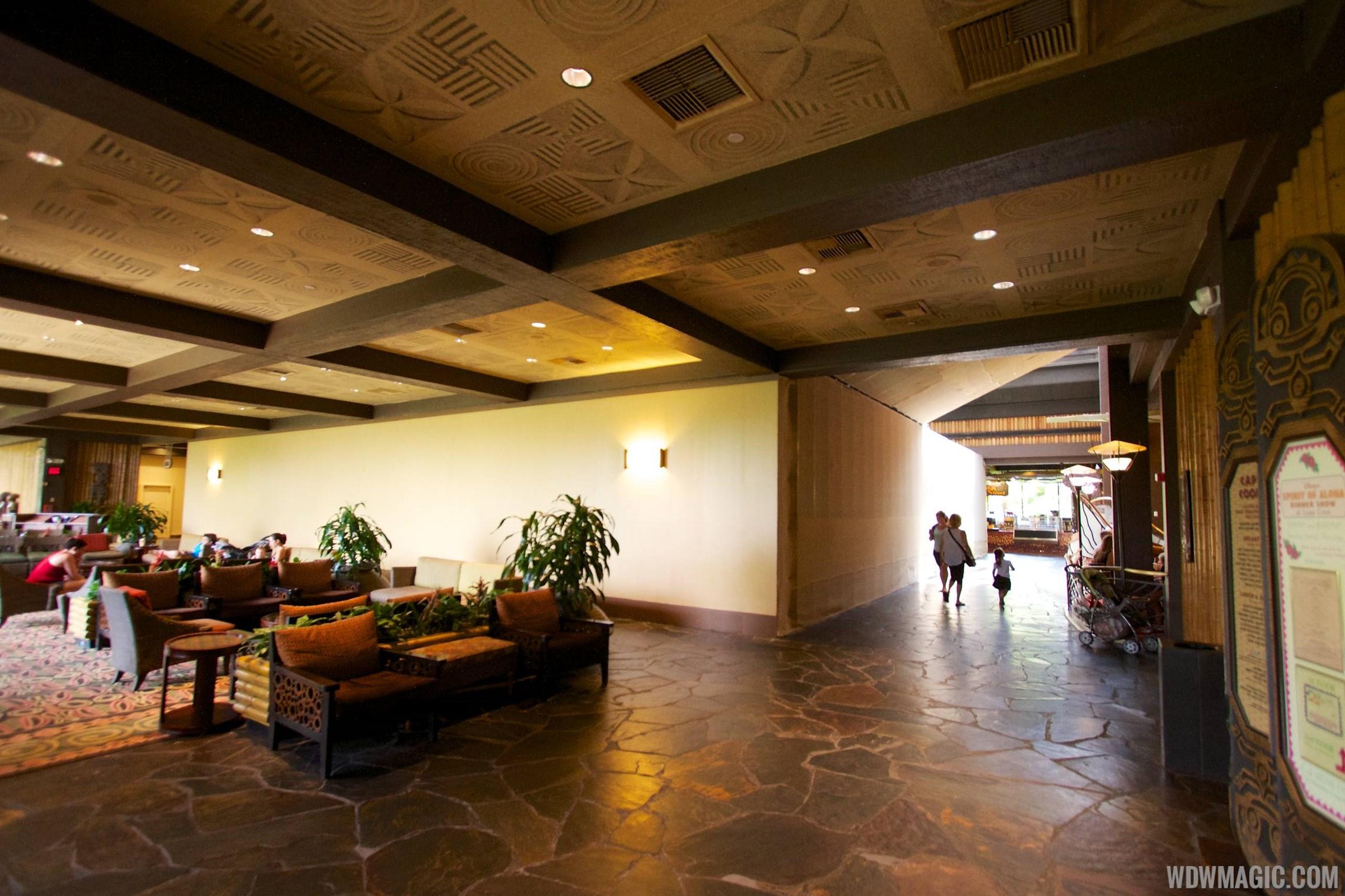 Polynesian Resort lobby construction