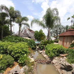 1 of 9: Disney's Polynesian Resort - Pool area at Disney's Polynesian Resort before 2014 remodel