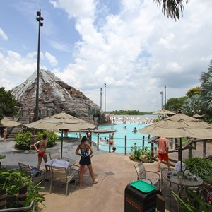 2 of 9: Disney's Polynesian Resort - Pool area at Disney's Polynesian Resort before 2014 remodel