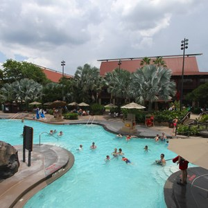 5 of 9: Disney's Polynesian Resort - Pool area at Disney's Polynesian Resort before 2014 remodel