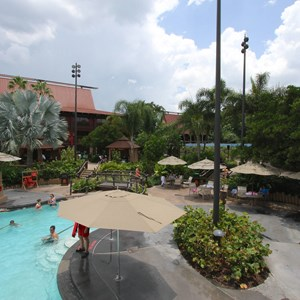 6 of 9: Disney's Polynesian Resort - Pool area at Disney's Polynesian Resort before 2014 remodel