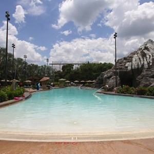 7 of 9: Disney's Polynesian Resort - Pool area at Disney's Polynesian Resort before 2014 remodel