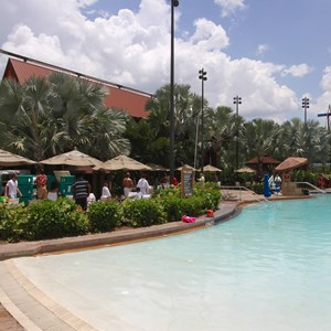 8 of 9: Disney's Polynesian Resort - Pool area at Disney's Polynesian Resort before 2014 remodel