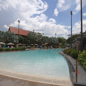 9 of 9: Disney's Polynesian Resort - Pool area at Disney's Polynesian Resort before 2014 remodel