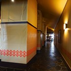Polynesian Resort lobby construction walls around Kona Cafe