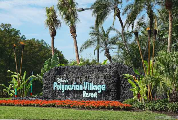 Polynesian Village Resort main entrance sign