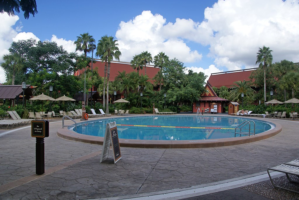 Polynesian Resort quiet pool