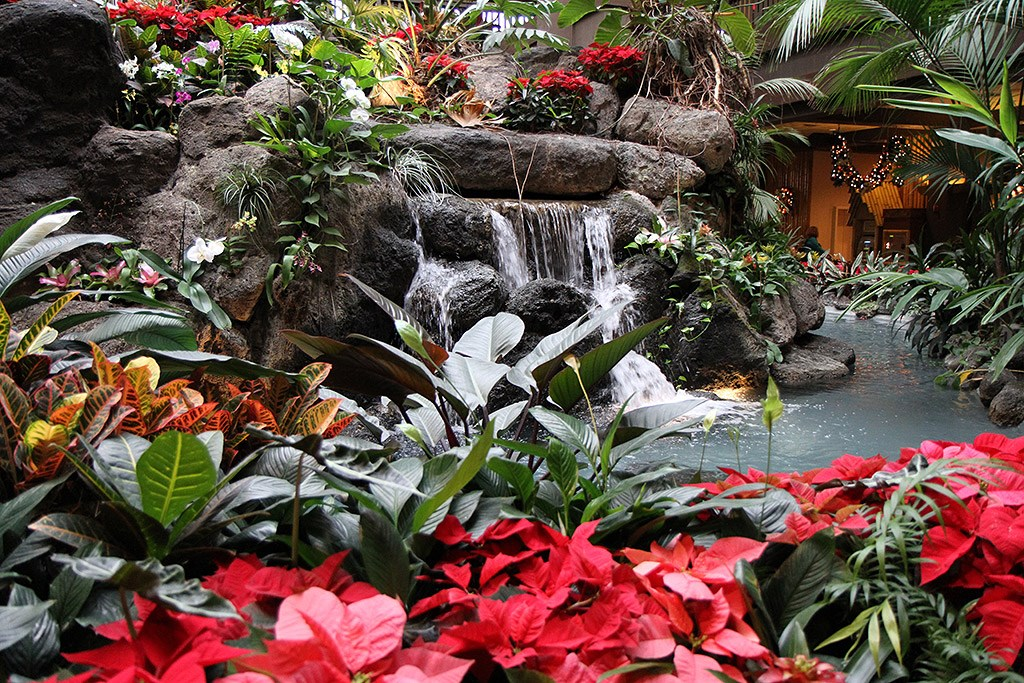 Disney's Polynesian Resort holiday decorations 2009