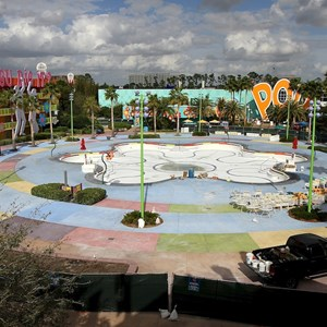 1 of 2: Disney's Pop Century Resort - Hippy Dippy Pool refurbishment