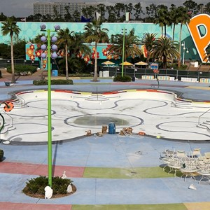 2 of 2: Disney's Pop Century Resort - Hippy Dippy Pool refurbishment