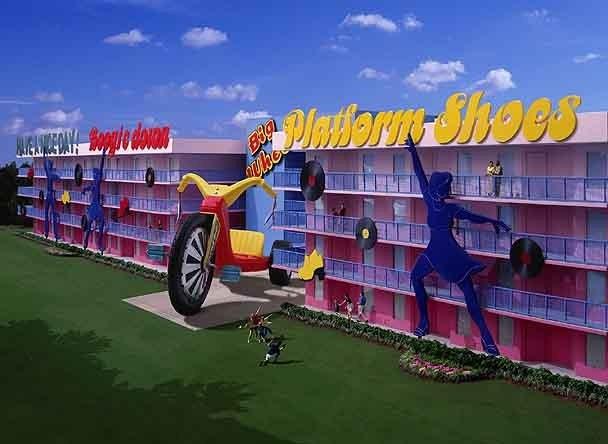 Pop Century Resort concept art