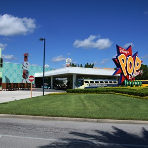 1 of 24: Disney's Pop Century Resort - Pop Century arrival area
