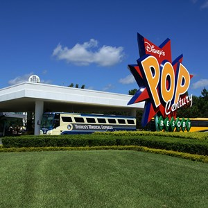 2 of 24: Disney's Pop Century Resort - The Magical Express and transporation area
