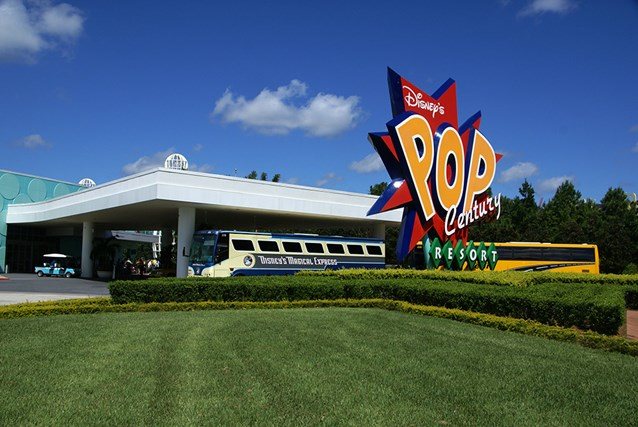 Disney's Pop Century Resort - The Magical Express and transporation area
