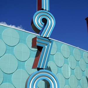 6 of 24: Disney's Pop Century Resort - Classic Hall - registration, transportation, shopping and food court