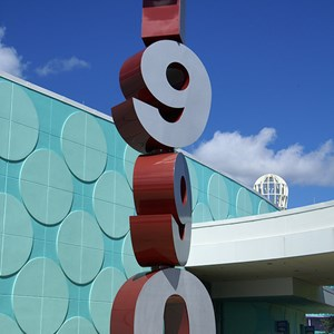8 of 24: Disney's Pop Century Resort - Classic Hall - registration, transportation, shopping and food court