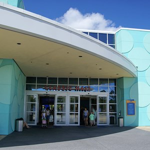 12 of 24: Disney's Pop Century Resort - The entrance to and from the lobby area and transporation