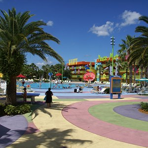 10 of 10: Disney's Pop Century Resort - Hippy Dippy Pool