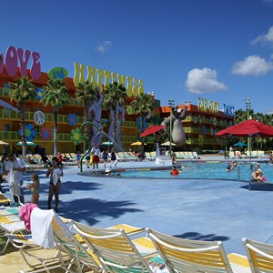 1 of 12: Disney's Pop Century Resort - 60s buildings and grounds