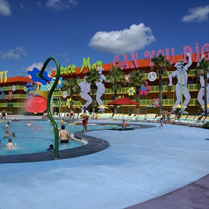 2 of 12: Disney's Pop Century Resort - 60s buildings and grounds